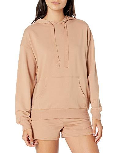 The Drop Women's Remi Loose French Terry Long Sleeve Hoodie Sweatshirt, Praline, S