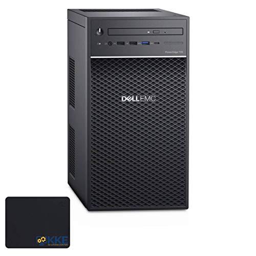 Dell PowerEdge T40 Business Tower Server Desktop, Intel Xeon E-2224G Quad-Core Processor up to 4.7GHz, 64GB DDR4 ECC UDIMM Memory, 8TB Hard Disk Drive, DVD-RW, No Operating System, KKE Mousepad Bundle