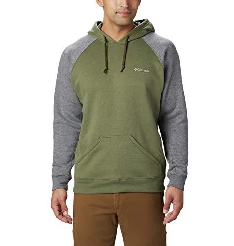 Columbia Men's Hart Mountain II Hoodie Sweatshirt, Peatmoss Heather, Charcoal Heather, Medium