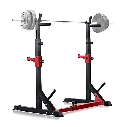 HAIRIESIS Barbell Rack 600LBS Capacity Push-ups Weight Lifting Home Gym Adjustable Squat Rack Weight Lifting Bench Press Push-ups
