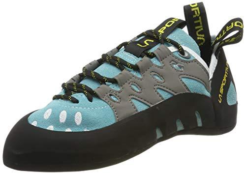 La Sportiva Women's TarantuLace Rock Climbing Shoe, Turquoise, 41