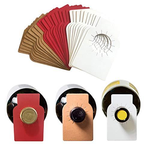 Wine Bottle Tags Paper Wine Cellar Labels for Wine Racks Marker (150 pack-3 colors)