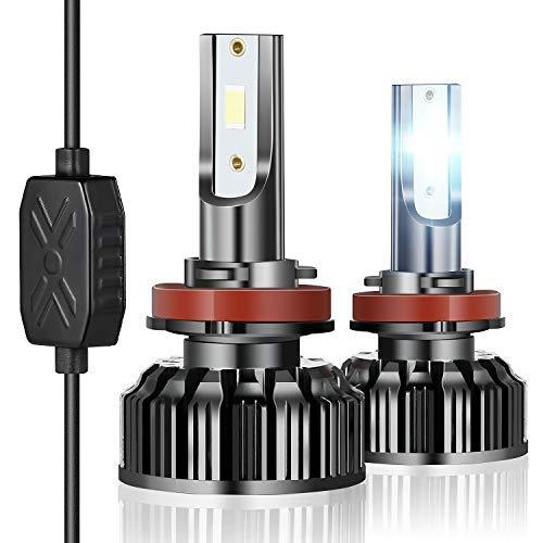 H11 H9 H8 LED Headlight Bulbs, ExceCar 90W 10000 Lumens Low Beam 6500K Light Bulb Conversion Kit Replacement for Cars Trucks Vans(2 Pack ) (H11)