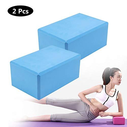 Yoga Block,High Density EVA Foam Yoga Brick,Improve Strength and Aid Balance and Flexibility,Cork Wood-Supportive Latex-Free EVA Foam Soft Non-Slip Surface for Yoga, Pilates, Meditation
