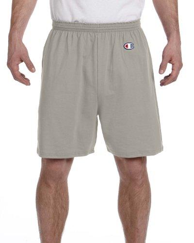 Champion Men's 6-Inch Oxford Gray Cotton Jersey Shorts - XX-Large
