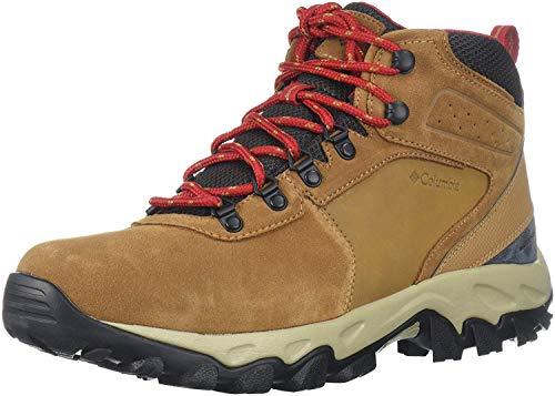 Columbia Men's Newton Ridge Plus II Suede Waterproof Hiking Boot, elk/Mountain red, 10