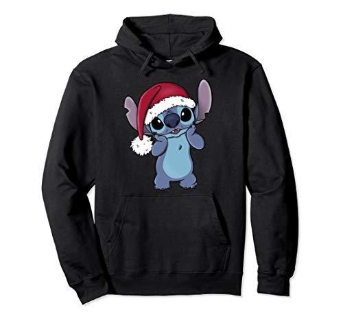 Disney Lilo & Stitch Christmas Santa Hat Stitch Portrait Pullover Hoodie