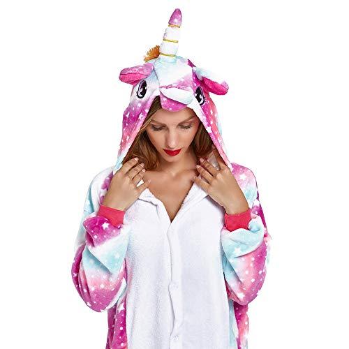 NOUSION Licorne Unisex Adult Pajamas, Cosplay Christmas Unicorn Sleepwear Onesies Outfit
