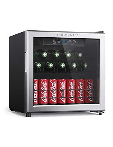 TaoTronics Beverage Refrigerator Cooler Freestanding Bar Fridge for Soft Drink Beer Soda, Mini Beverage Center with Digital Control for Home Office, Reversible Door, Adjustable Shelf, 1.6 cu. ft.
