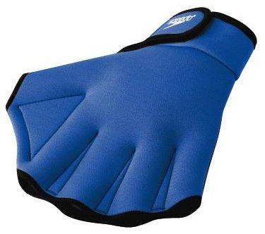 Speedo Unisex Swim Training Gloves Aquatic Fitness, Royal, Medium