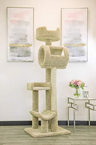 New Cat Condos 140003- Solid Wood Cat Climbing Tower Cat Tree, Beige