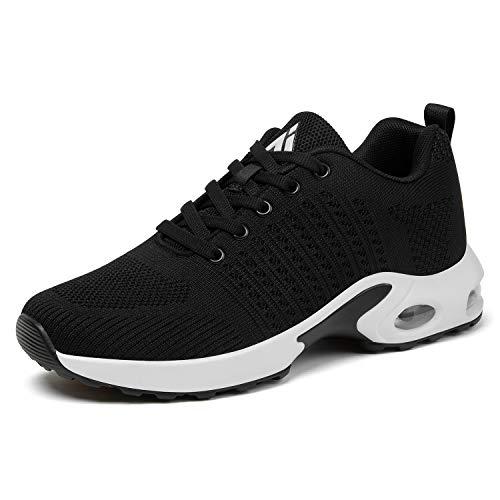 Mishansha Womens Air Cushion Running Shoes Lightweight Jogging Training Walking Fitness Sport Athletic Tennis Sneaker 9 Black