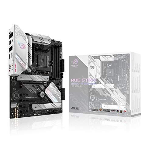 ASUS ROG Strix B550-A Gaming AMD AM4 Zen 3 Ryzen 5000 & 3rd Gen Ryzen ATX Gaming Motherboard (PCIe 4.0, 2.5Gb LAN, BIOS Flashback, Dual M.2 with heatsinks, Addressable Gen 2 RGB Header and Aura Sync