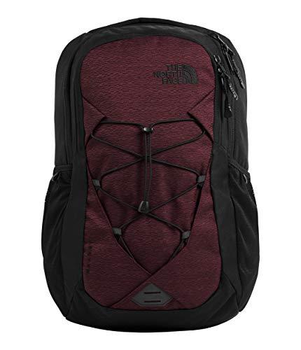 The North Face Women's Jester Backpack, Deep Garnet Red Light Splinter Heather/TNF Black, One Size