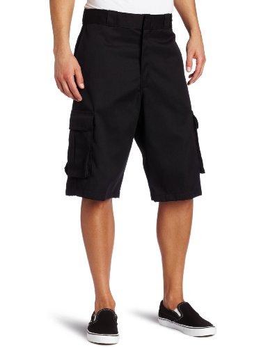 Dickies Men's 13 Inch Loose Fit Twill Cargo Short, Black, 40