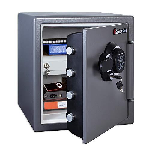 SentrySafe SFW123GDC Fireproof Safe and Waterproof Safe with Digital Keypad 1.23 Cubic Feet, Gun Metal Grey