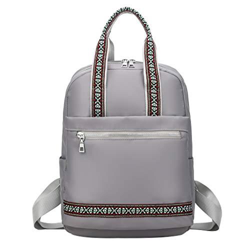 ildlor Women Simple Fashion Waterproof Student Bag Backpack