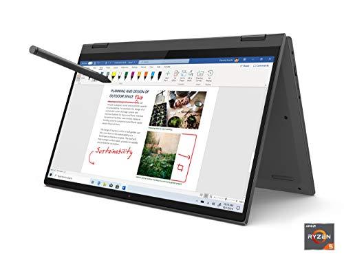 Lenovo Flex 5 14' 2-in-1 Laptop, 14.0' FHD (1920 x 1080) Touch Display, AMD Ryzen 5 4500U Processor, 16GB DDR4, 256GB SSD, AMD Radeon Graphics, Digital Pen Included, Win 10, 81X20005US, Graphite Grey