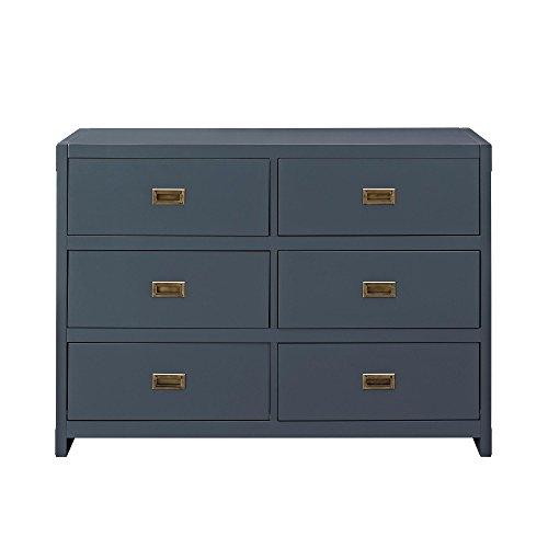 Baby Relax Miles, 6 Drawer Dresser, Graphite Blue