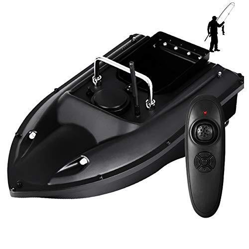 HAN XIU Remote Control Fishing Lure Bait Boat, Double Motors Smart Fish Boat, with Night Flight Indicator Light, for Fishing Enthusiasts/Fishermen,Black