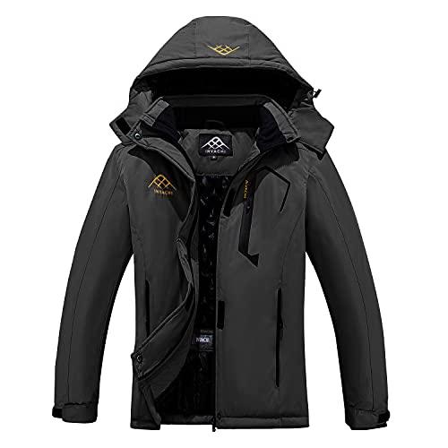 INVACHI Women's Winter Waterproof Ski Jacket Snow coat Mountain Windbreaker Windproof Warm Hooded Raincoat