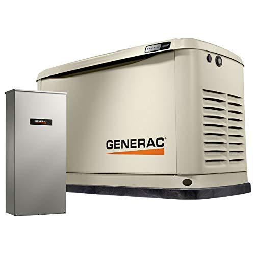 Generac G0071720 10 kW Guardian Home Standby Generator, Bisque