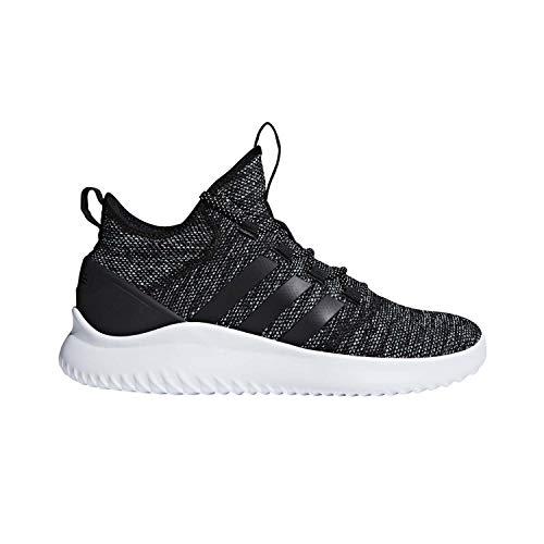 adidas Men's Ultimate Bball Basketball Shoe, Black/White, 10.5 M US