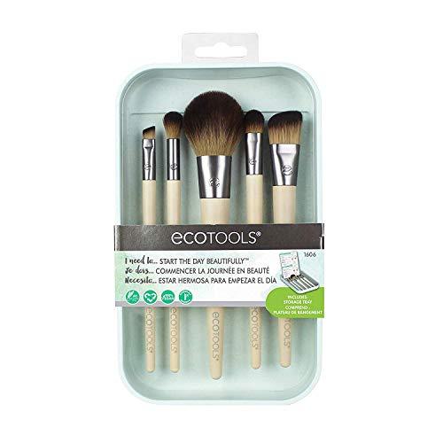EcoTools Start the Day Beautifully Kit Makeup Brush Set for Foundation Eyeshadow Blush