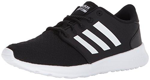 adidas Women's Cloudfoam QT Racer Running Shoe, Black/White/Carbon, 9 M US