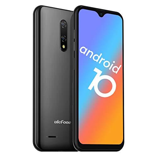 Unlocked Smartphones, Ulefone Note 8 (2020) Android 10, Dual Sim Unlocked Cell Phones, Dual Rear Camera, Triple Card Slots, 5.5' Waterdrop Full-Screen Phones, 2700mAh, Face Unlock, US Version - Black