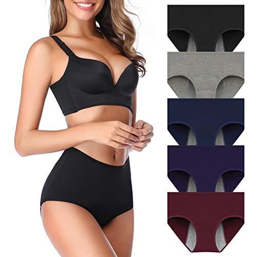 Women Mesh Holes Breathable Leakproof Period Panties Mulit Pack US Size Medium