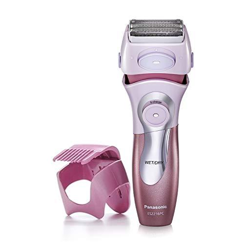 Panasonic Electric Shaver for Women, Cordless 4 Blade Razor, Close Curves, Bikini Attachment, Pop-Up Trimmer, Wet Dry Operation - ES2216PC