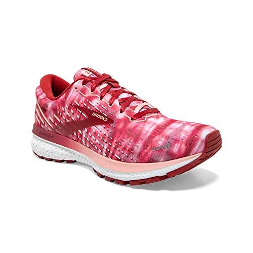 Brooks Women's Ghost 13 Running Shoe - Coral/Bossa Nova/White - 5