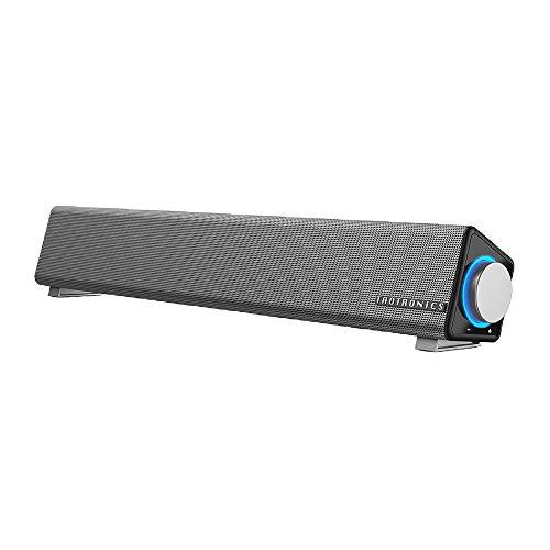 TaoTronics Computer Speakers, Wired Computer Sound Bar, Stereo USB Powered Mini Soundbar Speaker for PC Tablets Desktop Cellphone Laptop(Upgrade)
