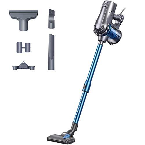 Greenote Stick Vacuum Cleaner, 18KPA Powerful Suction, 600W,4 in 1 Corded Handheld Vacuum Cleaner, 1.2L Capacity Lightweight Vacuum for Home Carpet Pet