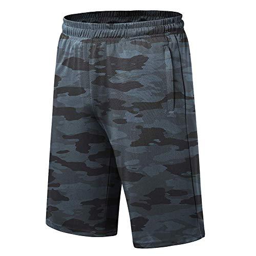 LETAOTAO Men's Big & Tall Athletic Basketball Shorts Running Gym Performance Workout Short with Zipper Pocket (Camo Grey 464, 4XL(54W-56W))