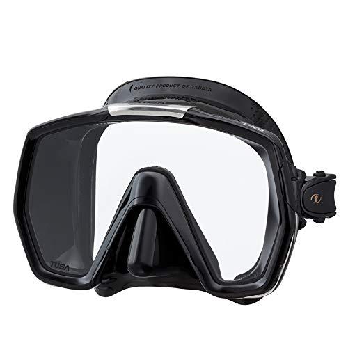 TUSA M-1001 Freedom HD Scuba Diving Mask, Black/Black
