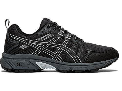 ASICS Women's Gel-Venture 7 (D) Shoes, 9W, Black/Piedmont Grey