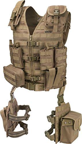 Barska BI12344 Loaded Gear VX-100 Tactical Vest & Leg Platforms (Flat Dark Earth), beige