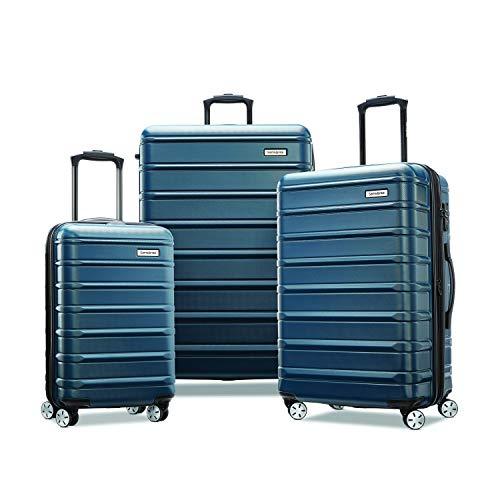 Samsonite Omni 2 Hardside Expandable Luggage with Spinner Wheels, Nova Teal, 3-Piece Set (20/24/28)