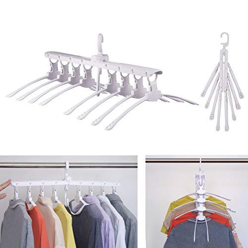 Moyeno 8 in 1 Hangers Space Saving Hangers Hanger Hanger Clothes Hangers Space Saving Pants Hangers Adjustable Hangers Space Saving Foldable Hangers Skirt Hangers Space-Saving Hangers