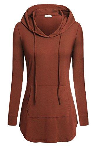 Women Tunics,Bepei Plus Size Formal Wear For Leggings Hoody Sweatshirts Gifts for Women Christmas Wear Orange M