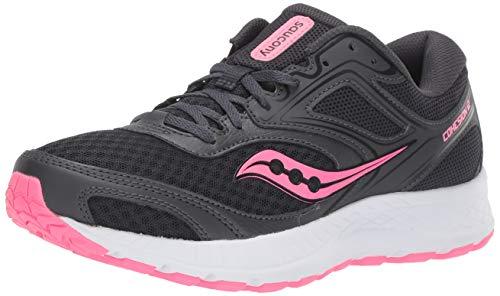 Saucony Women's VERSAFOAM Cohesion 12 Road Running Shoe, Black/Pink, 9 M US