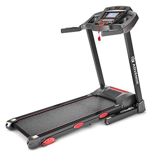 ADVENOR Treadmill Motorized Treadmills 3.0 HP Electric Running Machine Folding Exercise Incline Fitness Indoor 64 Preset Programs (RED)