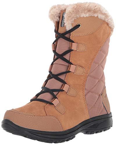 Columbia Women's ICE Maiden II Snow Boot, elk, Black, 10 Regular US