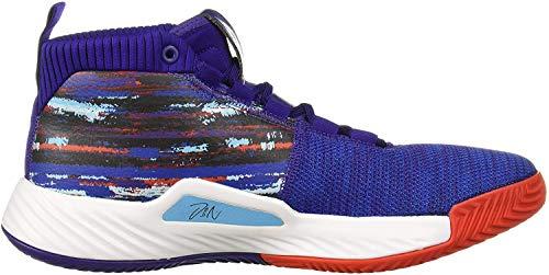 adidas Men's Dame 5 Basketball Shoe, Collegiate Purple/Collegiate Royal/White, 12 M US