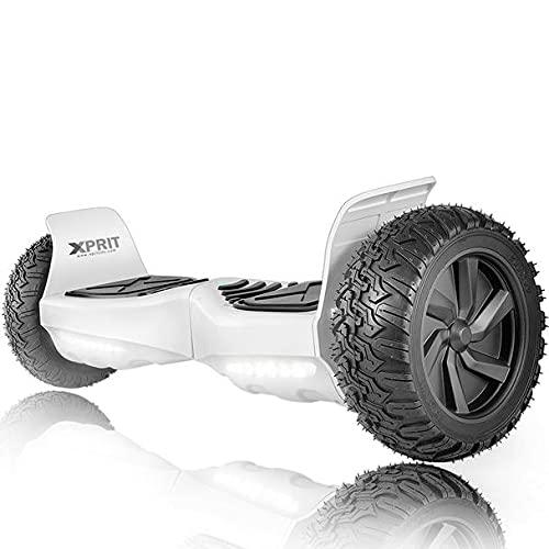 XPRIT 8.5'' All Terrain Off-Road Hoverboard w/Bluetooth Speaker, LED Lights, UL2272 Certified