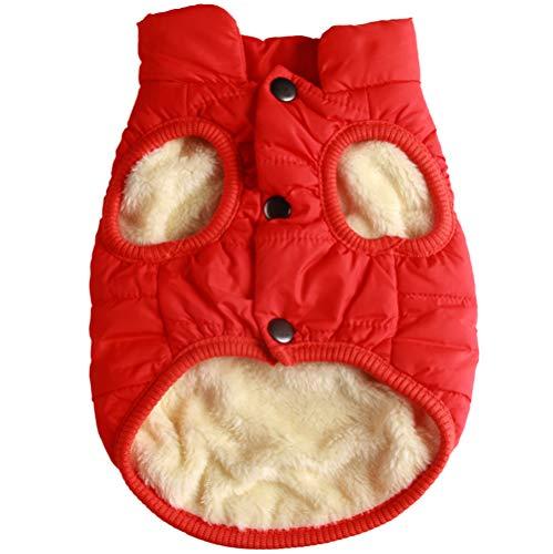 JoyDaog 2 Layers Fleece Lined Warm Dog Jacket for Puppy Winter Cold Weather,Soft Windproof Small Dog Coat,Orange M