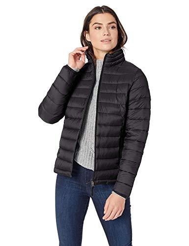 Amazon Essentials Women's Lightweight Long-Sleeve Full-Zip Water-Resistant Packable Puffer Jacket, Black, X-Large