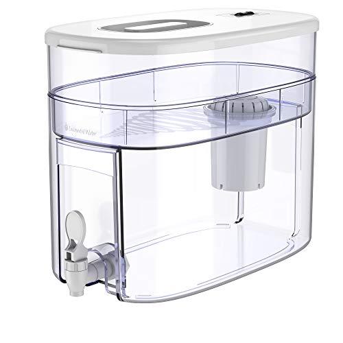 pH RECHARGE 1F Alkaline Water Filter Ionizer – Countertop Water Filter Purifier Machine – Large Alkaline Water Pitcher – High pH Ionized Water, 2.6 Gallon, 12.5 Litre (White)